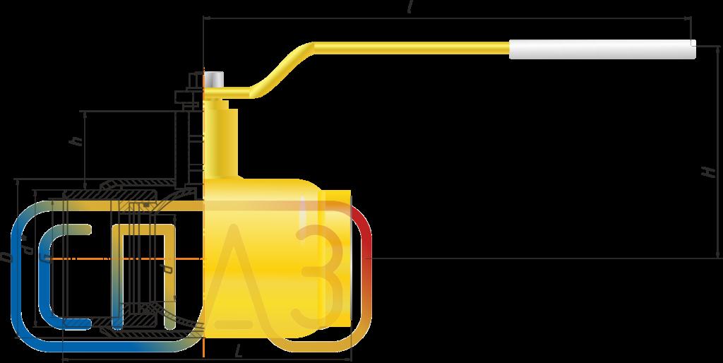 Кран шаровый СПАЗ газовый муфтовый редуцированный