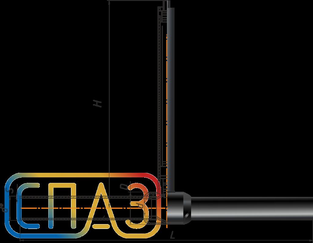 Кран шаровый СПАЗ газовый с удлиненным штоком в усиленной изоляции приварной редуцированный