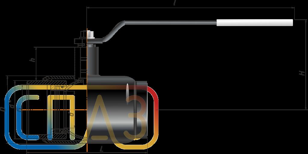 Кран шаровый СПАЗ муфтовый полнопроходной