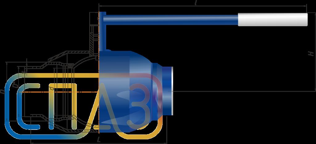 Кран шаровый СПАЗ приварной полнопроходной