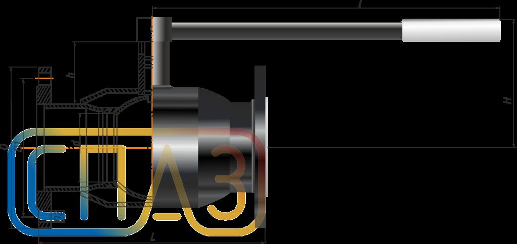 Кран шаровый СПАЗ фланцевый редуцированный
